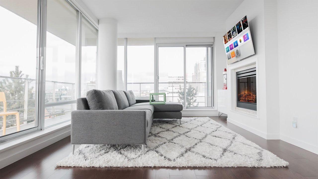 Modern 4K Living Room Setup Tour (2018) - YouTube