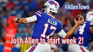Josh Allen to start week 2 against Chargers