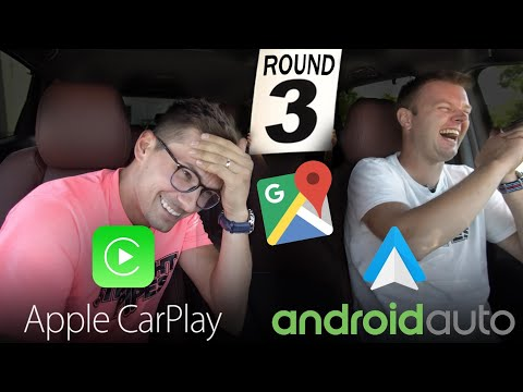 Android Auto vs Apple CarPlay - 2018 GOOGLE MAPS UPDATE!
