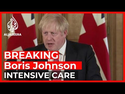 Boris Johnson in intensive care over coronavirus