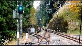 Seibu Chichibu-Ikebukuro Line driver's view from Seibu-Chichibu to Hannō in Japan