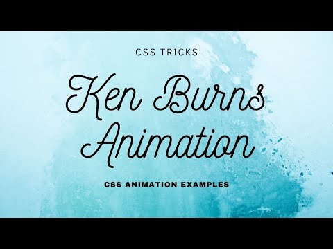 Pure CSS Ken burns Effects | CSS Animation
