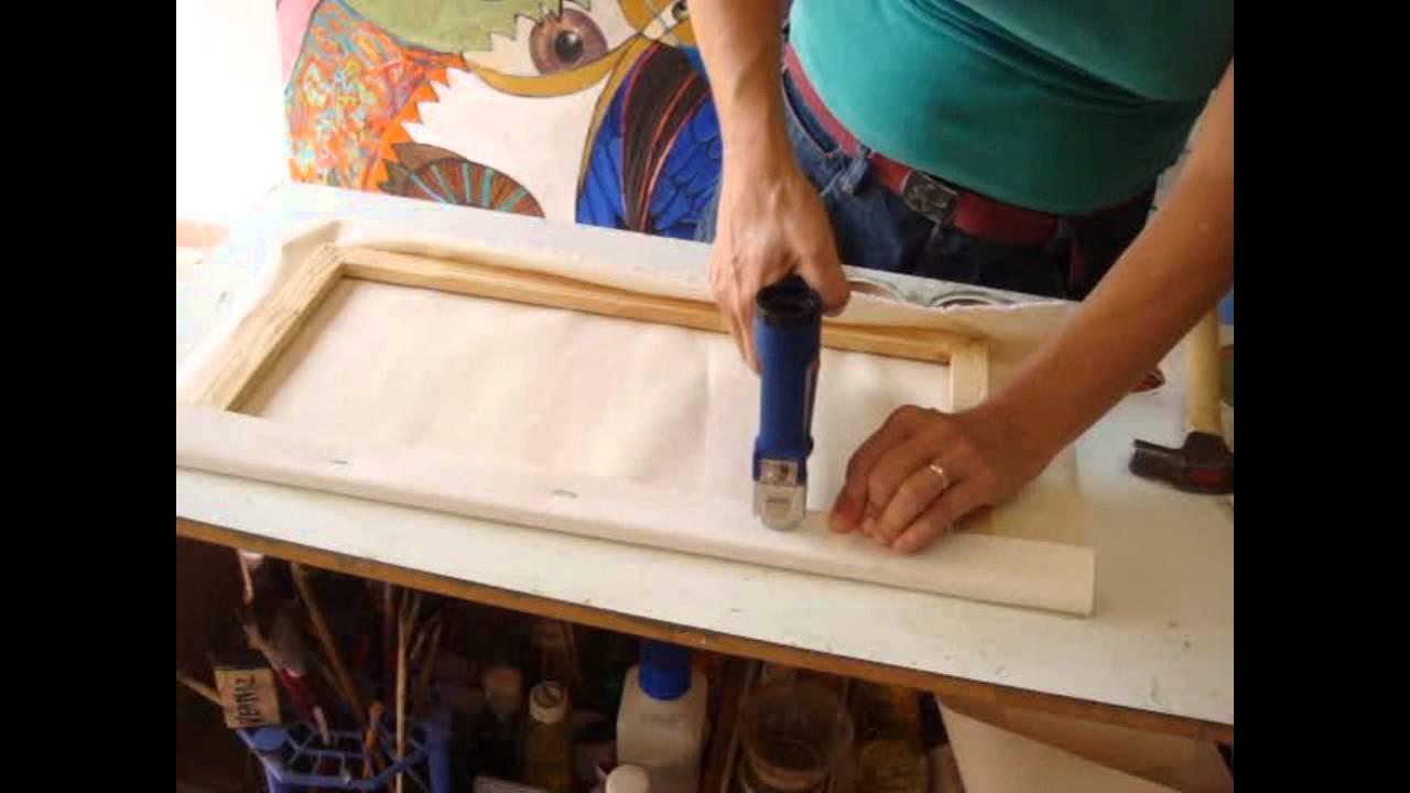 Nancy carpi dica esticando uma tela para pintar youtube - Telas de tapicerias para sofas ...
