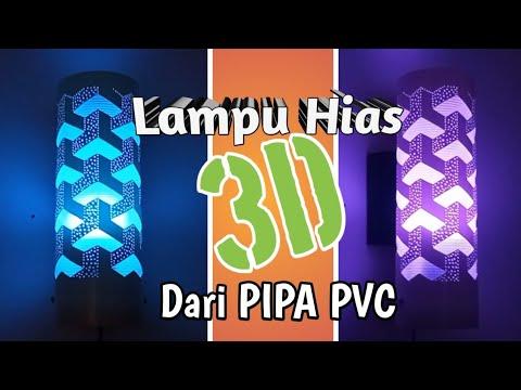 Peluang Bisnis..!! Membuat 3D Lampu Hias Dari Pipa Paralon/PVC