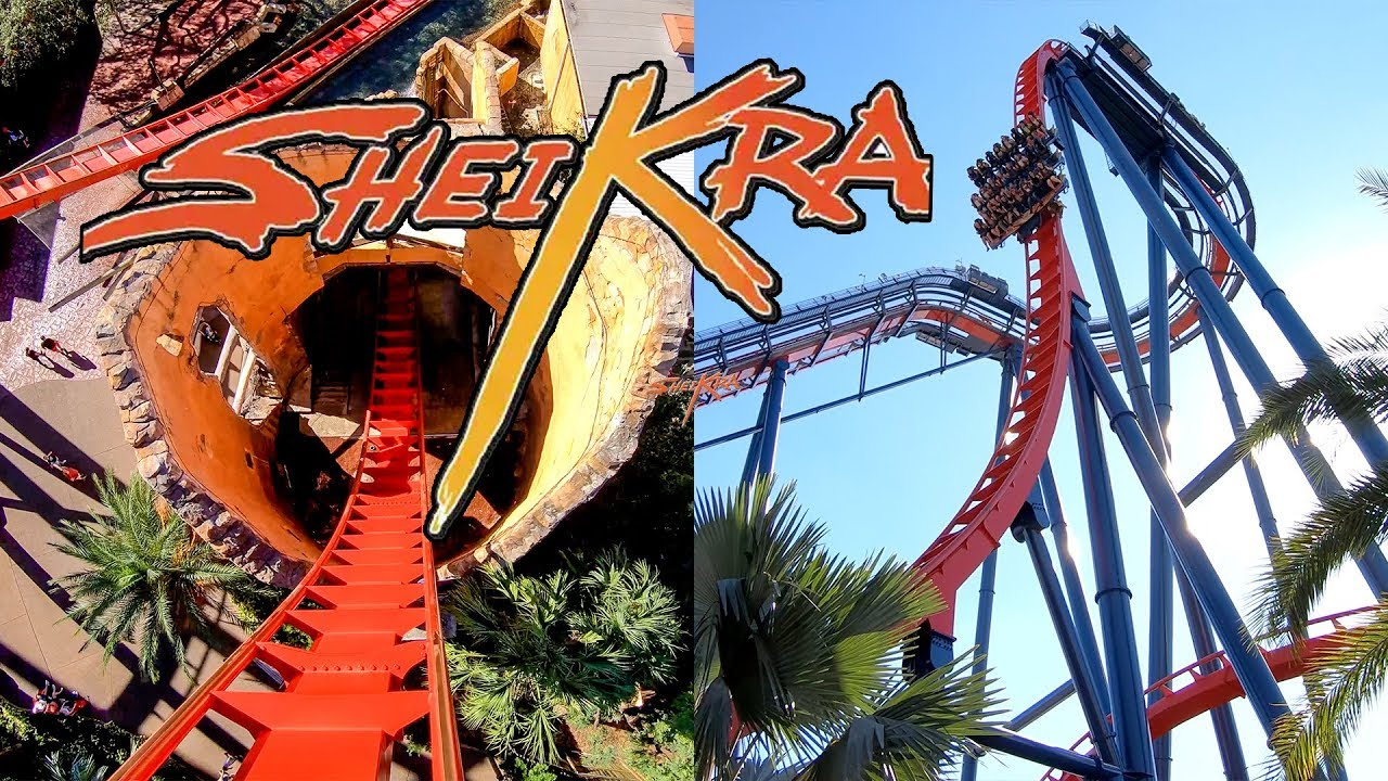Riding the awesome sheikra roller coaster at busch gardens - Busch gardens tampa roller coasters ...