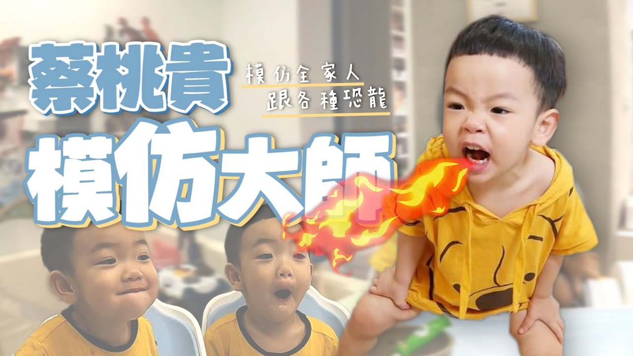 【蔡桃貴成長日記#63】超強模仿大師!模仿全家人、各種動物恐龍!