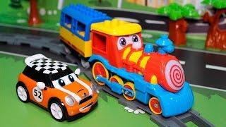 Мультик. Поезд мультик: Прогулка с паровозиком. Учимся считать до 5. Развивающий мультфильм.
