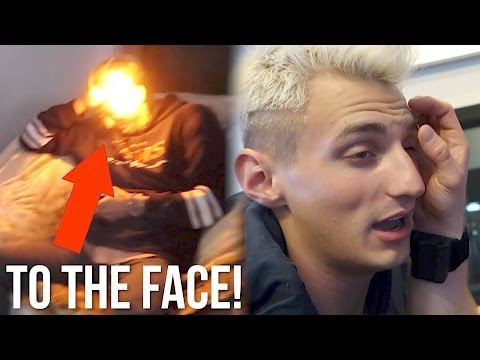 Thumbnail: I BURNT MY ROOMMATE'S EYEBROW OFF WITH A FLAMETHROWER!