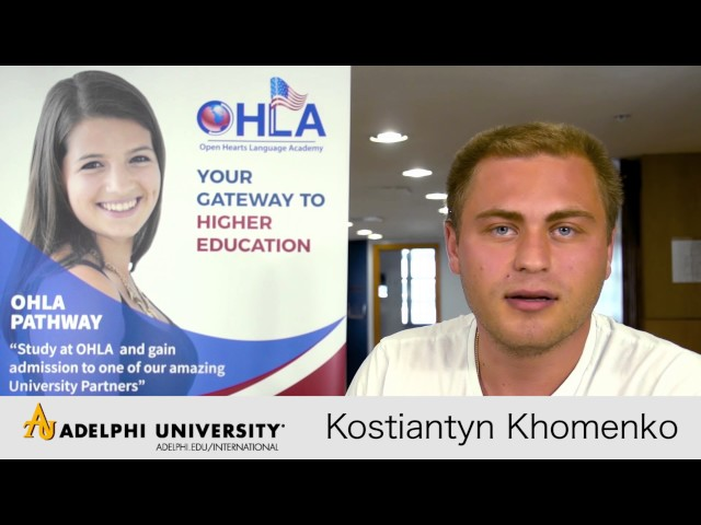Kostiantyn Khomenko from Ukraine get admitted to Adelphi University