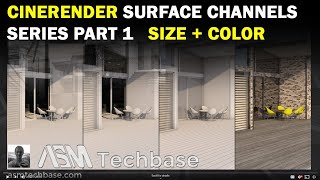 CineRender Surface Settings Series Part 1 Size and Color Channel in ARCHICAD