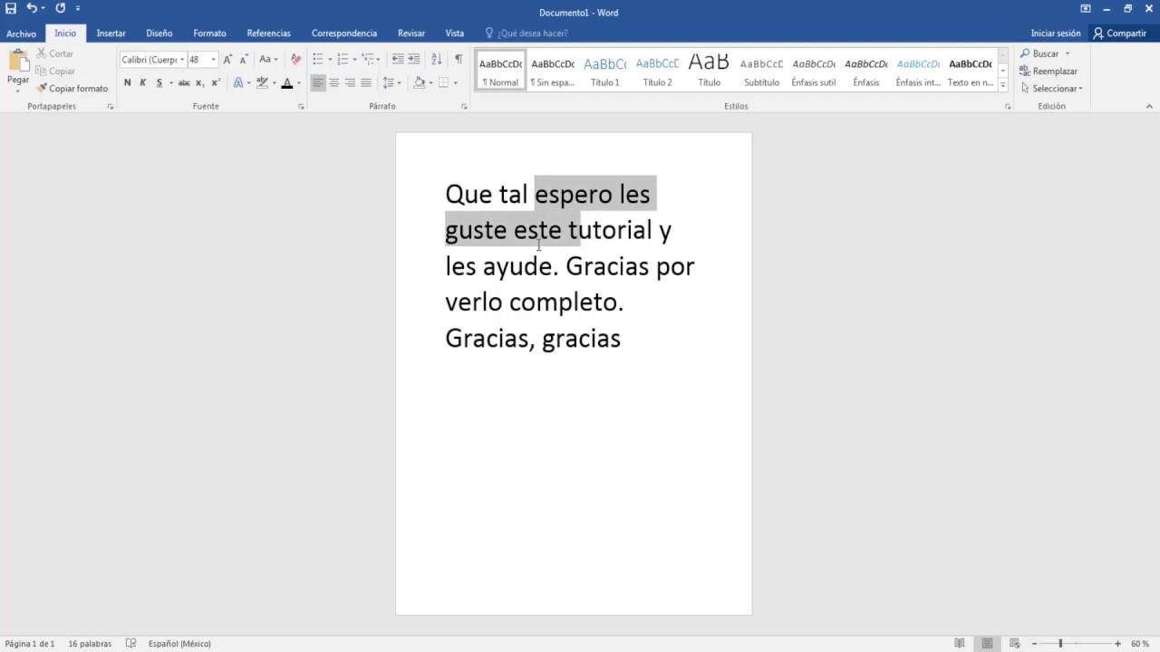 Como Poner En Letra Cursiva De Una Hoja En Word 2016 - YouTube
