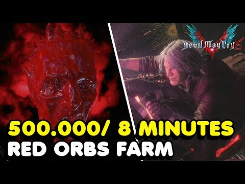 DMC 5 - Fastest Way To Farm RED ORBS In Devil May Cry 5 (500.000 Every 8 Minutes) thumbnail