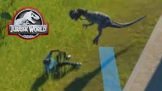 DINOSAUR EATS A GUEST! - Jurassic World Evolution #6