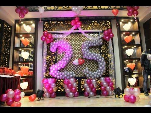 25th Happy Anniversary Balloon Decoration