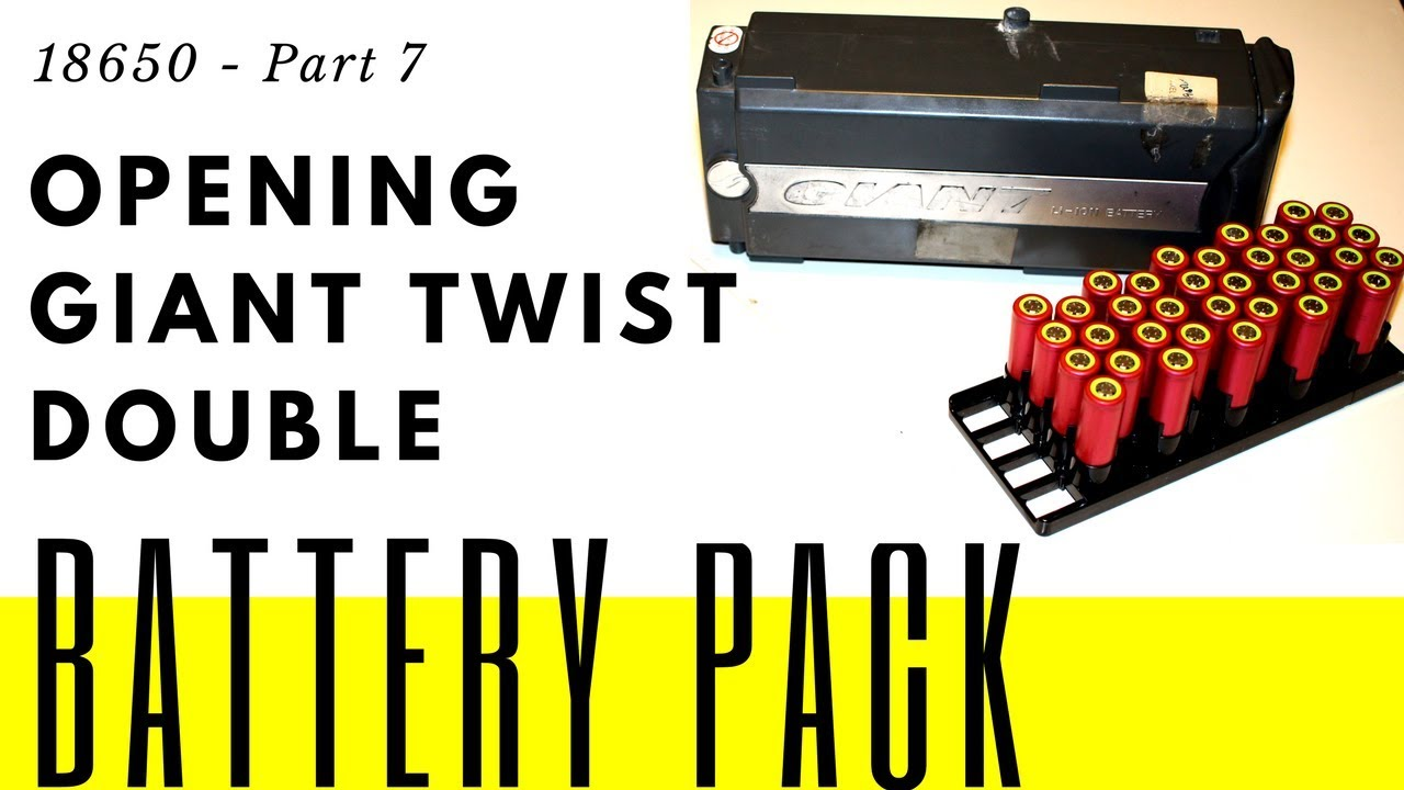 18650 - Part 7 - Opening Giant Twist Double ebike battery for salvage of  18650 cells