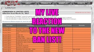 My LIVE REACTION to the new March 31st 2017 BAN LIST!