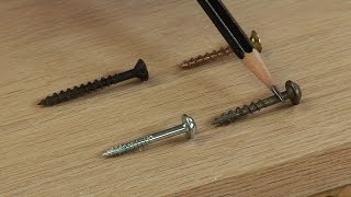 Choosing the Correct Screw Pocket Screw  |  Woodworkers Guild of America