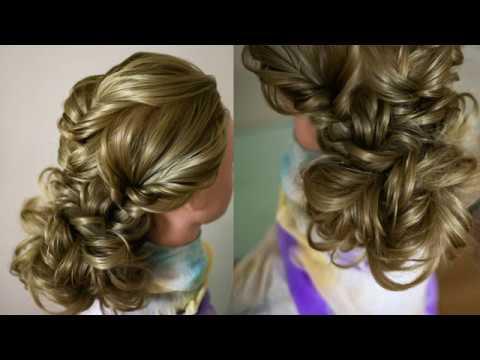 Низкий пучок из воздушной косы Красивая причёска ОЧЕНЬ ПРОСТО Hair tutorial