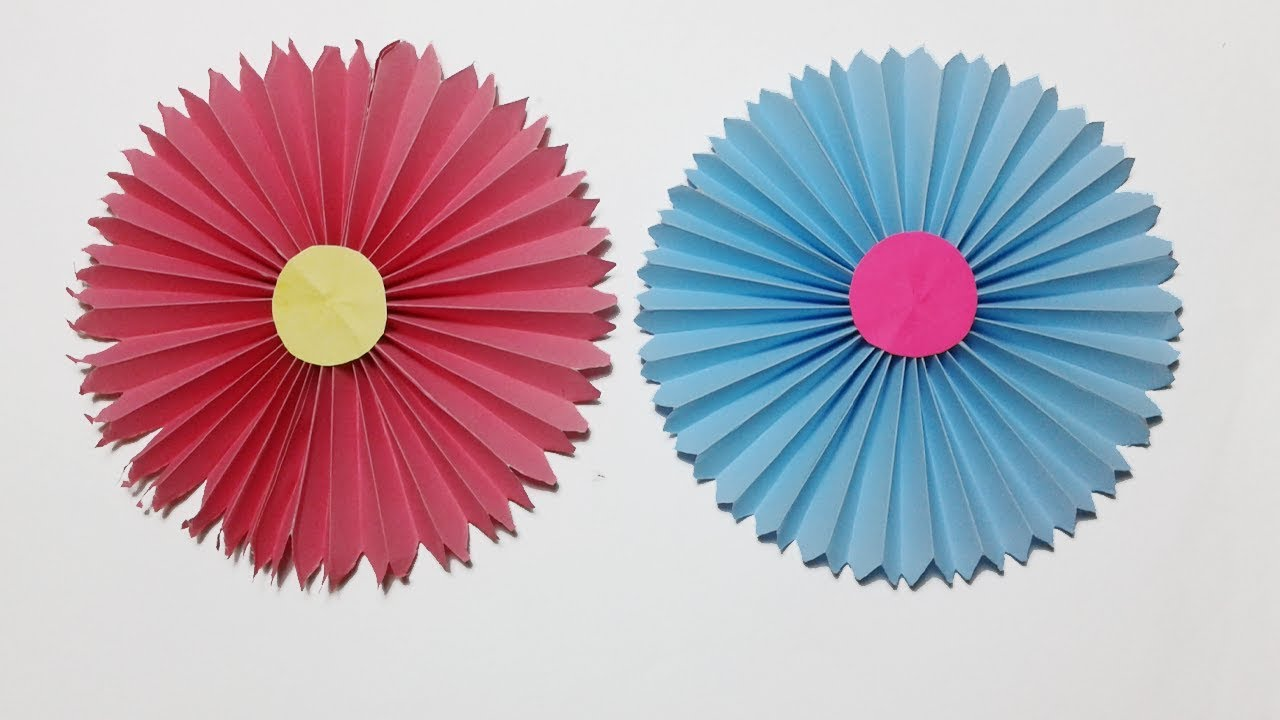 How to make easy paper rosettes flower handmade flowers step by how to make easy paper rosettes flower handmade flowers step by step easy paper craft tutorials mightylinksfo Choice Image