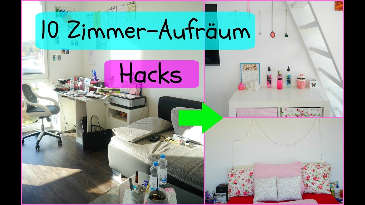 10 tipps f r s zimmer aufr umen meine 10 hacks youtube. Black Bedroom Furniture Sets. Home Design Ideas