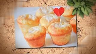 Готовим Творожные кексы с заварным кремом и персиковым джемом. Вкусный рецепт