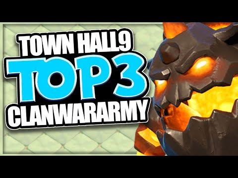 TH 9 Best 3 Attack Strategies in 1 Video! | TH 9 Top 3 Clan War 3 Star Armies in Clash of Clans