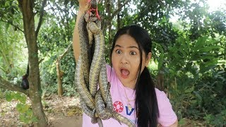 Awesome Cooking : Fry Spicy Snake Delicious Recipe - Eating Food Show