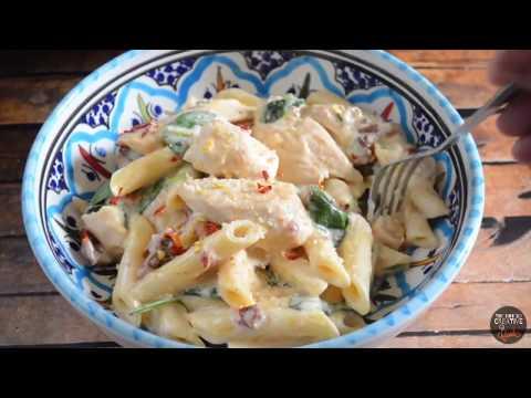 How To Make Chicken And Sundried Tomato Pasta With Mozzarella Cream Sauce (Recipe #2)