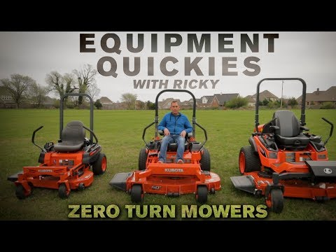 Kubota Zero Turn Mowers Comparison