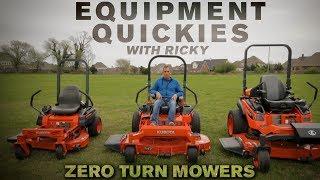 Kubota Zero Turn Mowers Comparison