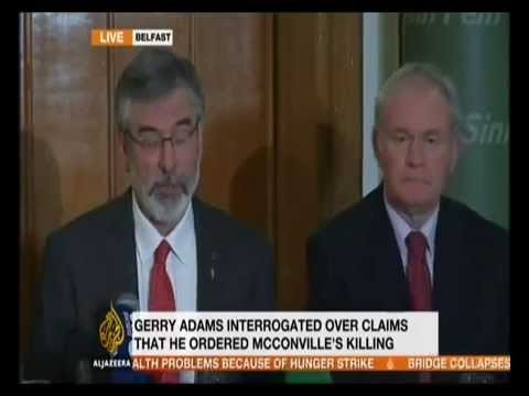 Gerry Adams released in Antrim, Al Jazeera cover Press Conference live