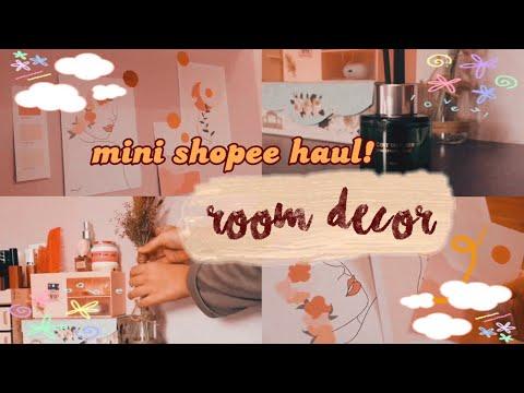 mini shopee haul room decor under 60k! ( + re-organizing