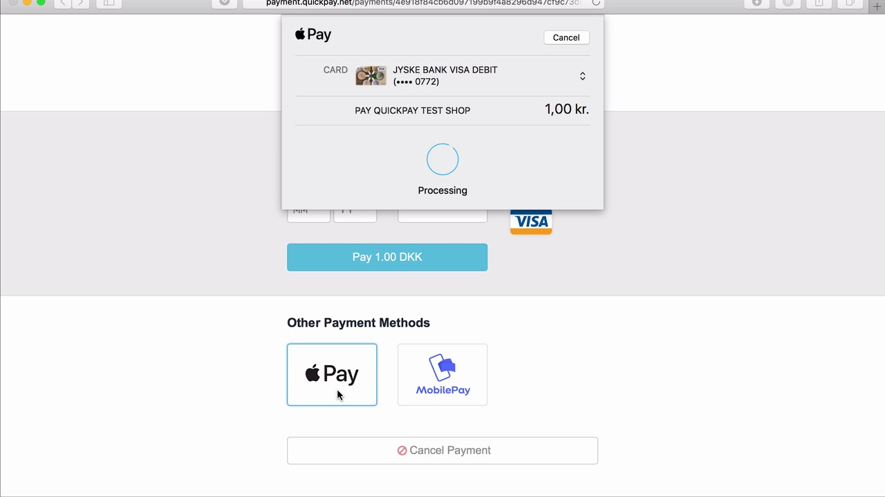 quickpay mobilepay