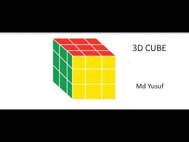 How To Draw 3d cube in paint