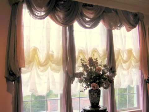 Window Scarves That Are Easy To Hang - YouTube