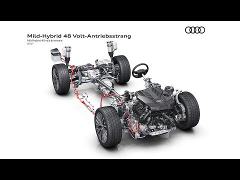 Audi A8 48-Volt-Bordnetz - YouTube