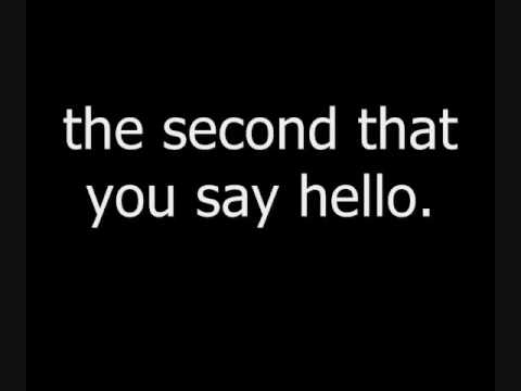 Chase Coy - The Second That You Say LYRICS