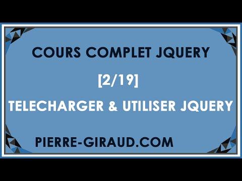 COURS COMPLET JQUERY 219  Télécharger et utiliser jQuery