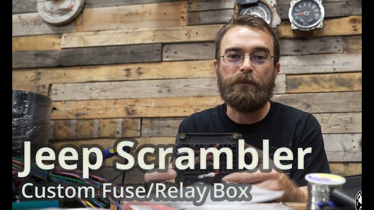 jeep scrambler installing a custom fuse relay box  [ 1280 x 720 Pixel ]