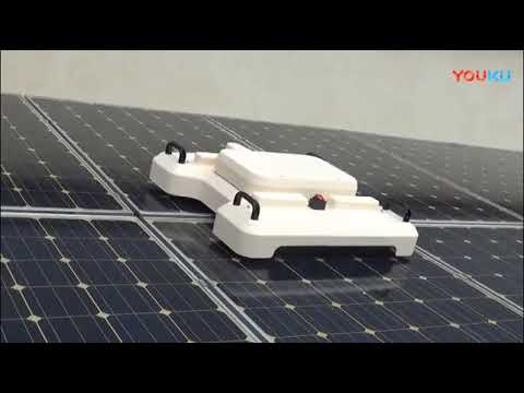 waterless robotic cleaner for solar panels and solar farms