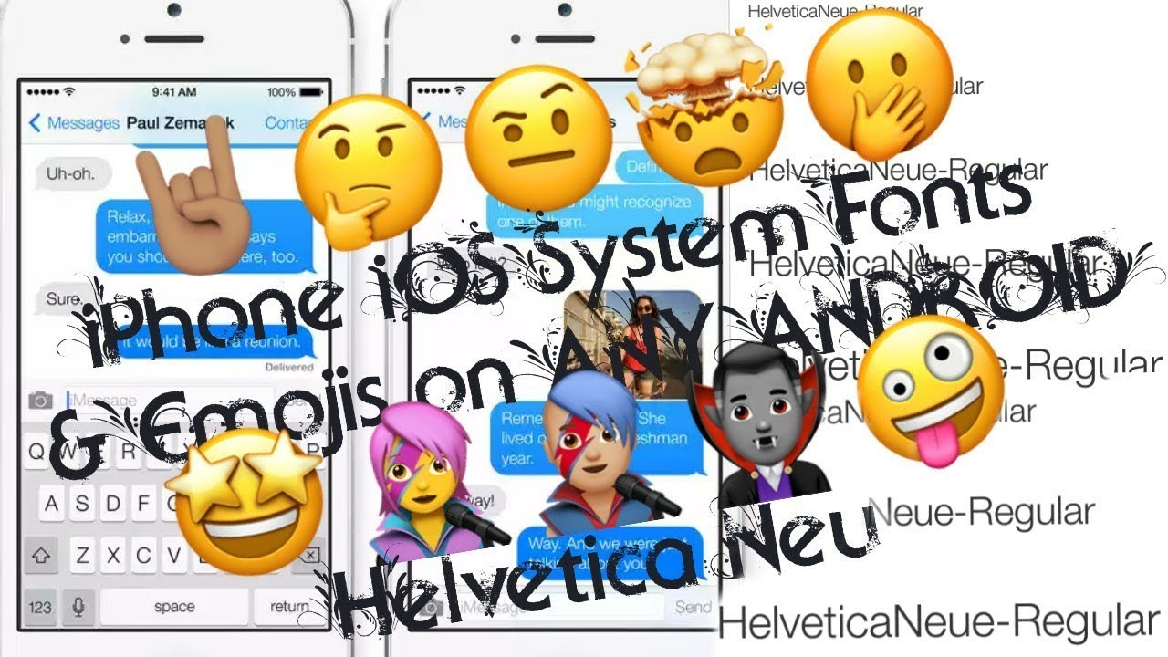 How to Install iPhone iOS System Font [Helvetica Neue] on ANY ANDROID |  Helvetica Neue | iOS emojis
