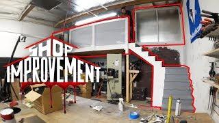 ACRYLIC RAILING PANELS! UPSTAIRS DONE?!? - Shop Improvement #5