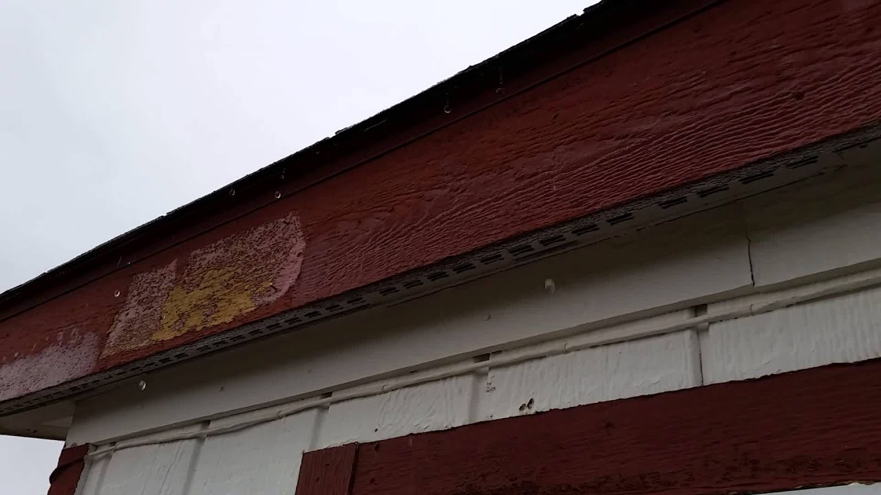 Rain And Hail No Gutters On The House Youtube