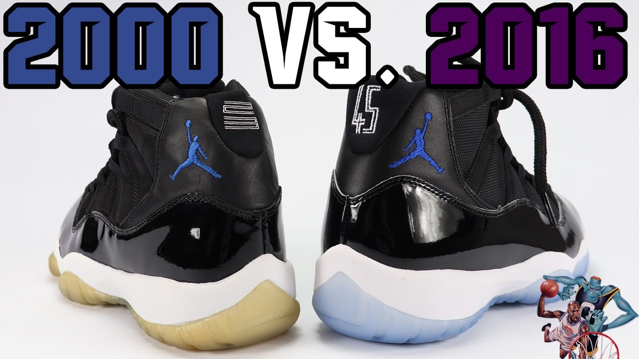 47deac5c3cf 2016 vs 2000 Air Jordan 11 Space Jam Comparison - YouTube