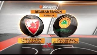 Highlights: Crvena Zvezda mts Belgrade-Panathinaikos Superfoods Athens