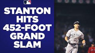 GO-AHEAD GRAND SLAM! Giancarlo Stanton DEMOLISHES a grand slam to put the Yankees ahead of Boston!