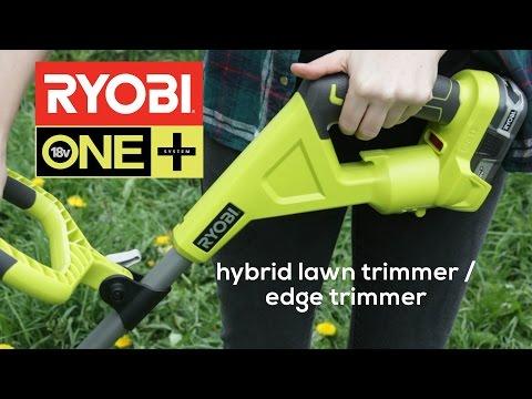 Ryobi hybrid Rasentrimmer / Rasenkantenschneider - Ryobi hybrid string trimmer / edger