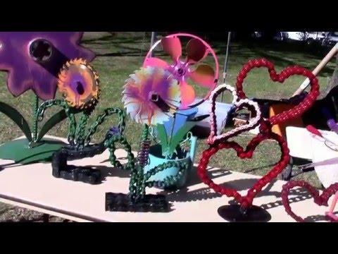 yard art ideas diy flower by Raymond Guest
