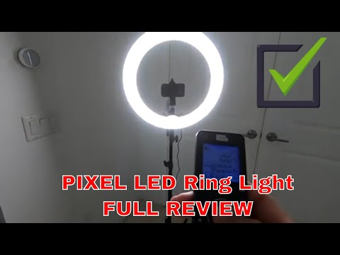 PIXEL LED Ring Light Wireless Remote 19 inch Dimmable 3000K-5800K 55W UNBOXING AND FULL REVIEW