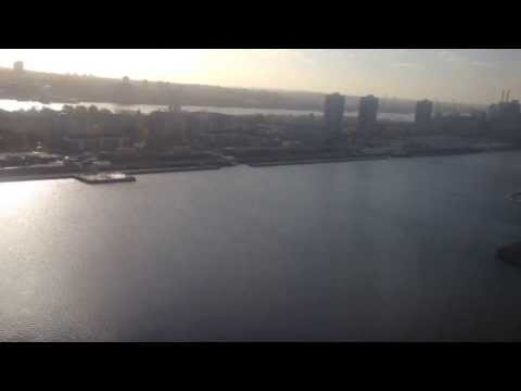 Landing at London City Airport, London, England - November, 2013